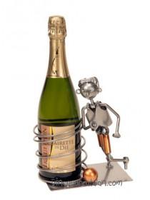 Support bouteille métal - Footballeur