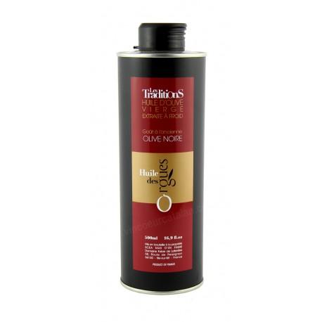 Huile d'olive des Orgues - Olive Noire 0.50L