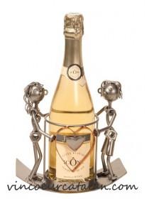 Support bouteille métal - Amour