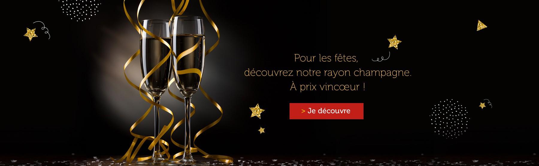 Notre sélection Champagne et de fines bulles !